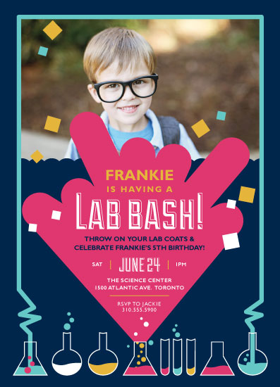 party invitations - Science Lab by Nicole Basque