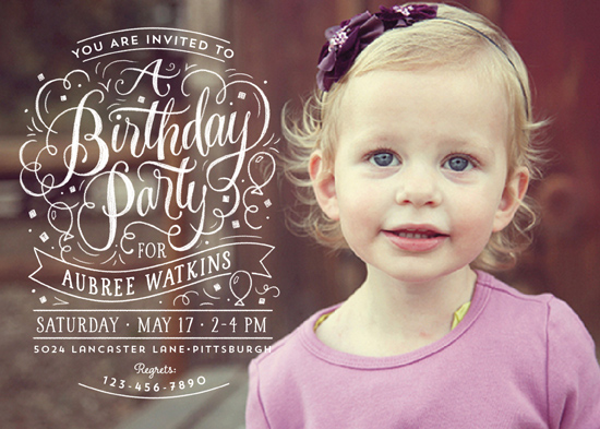 party invitations - Swirls of Fun by Laura Bolter Design