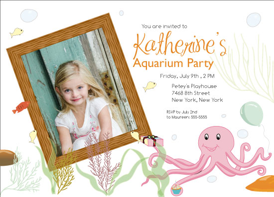 party invitations - Aquarium party by Dalitso Malikebu