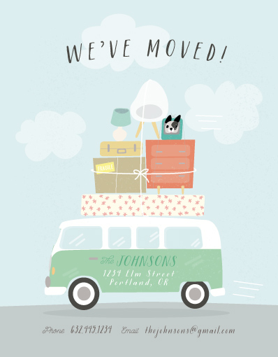 moving announcements - Moving Van by Itsy Belle Studio