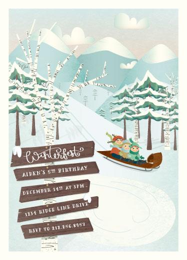 party invitations - Winterfest by Grace Kreinbrink