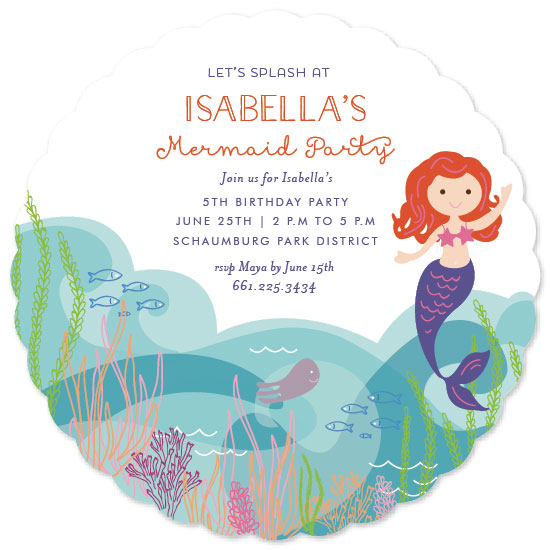 party invitations - Mermaid Splash by Nazia Hyder