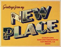 New Place Postcard by Katherine Soares