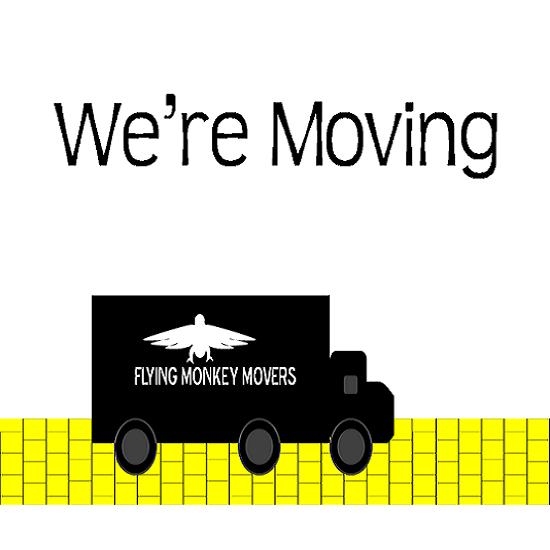 moving announcements - We're Hitting the Yellow Brick Road by Up The Creek Press