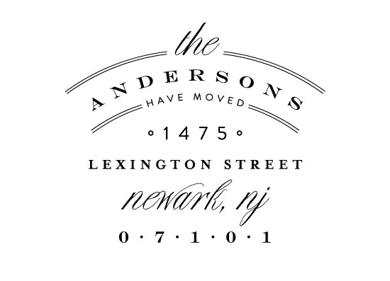 moving announcements - Address Logo by Phrosne Ras