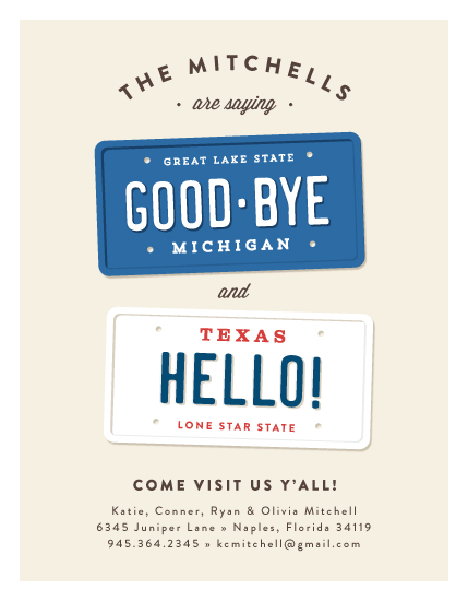 moving announcements - New plates by Jennifer Wick