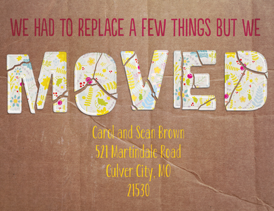 moving announcements - Broken Move by Katherine Soares