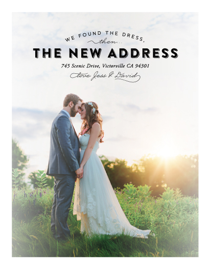 moving announcements - The new address by Jana Volfova