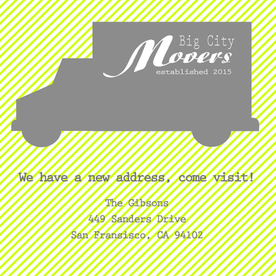 moving announcements - Moving Truck by Susan Teachey