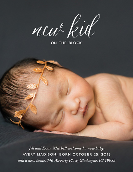moving announcements - new kid on the block by Carol Fazio