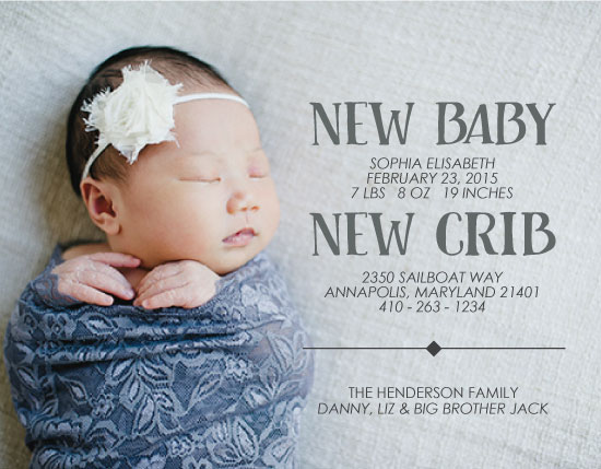 moving announcements - New Baby New Home - Birth Announcement by West Sheridan