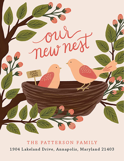 moving announcements - Home Tweet Home by Emily Hein