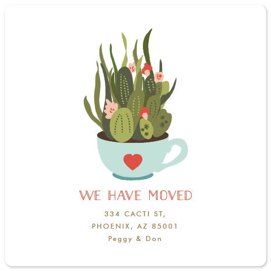 moving announcements - Succulent Teacup by Nazia Hyder