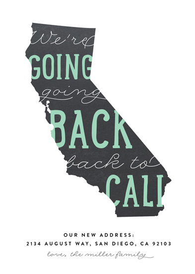 moving announcements - Back to Cali by Erica Krystek