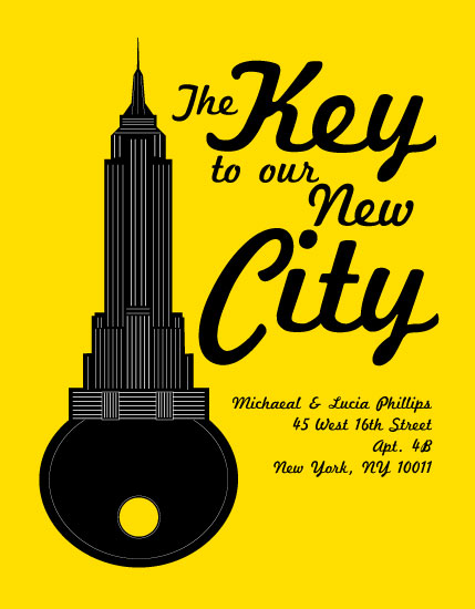 moving announcements - NYC Empire Key by Francesca Leipzig Picone