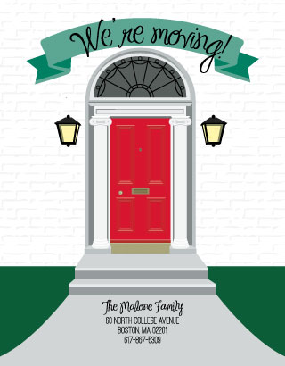 moving announcements - Front Door Moving Banner by Kristen DeAngelis