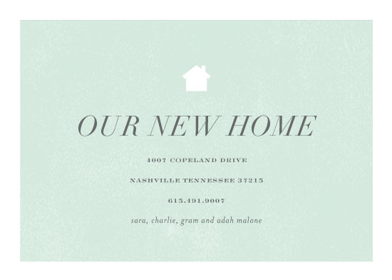 moving announcements - house and home by Sara Hicks Malone