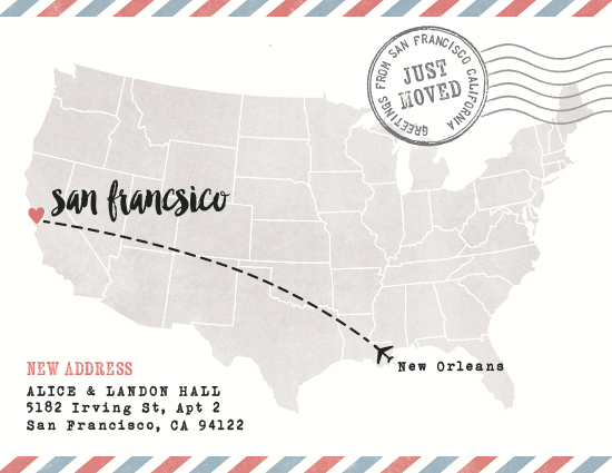 moving announcements - US Postcard by Hooray Creative