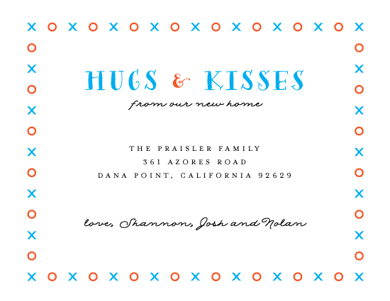 moving announcements - Hugs & Kisses by Monica Schafer