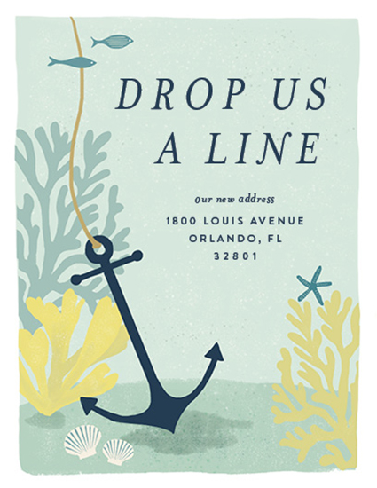 moving announcements - Drop Us A Line by Emily Hein