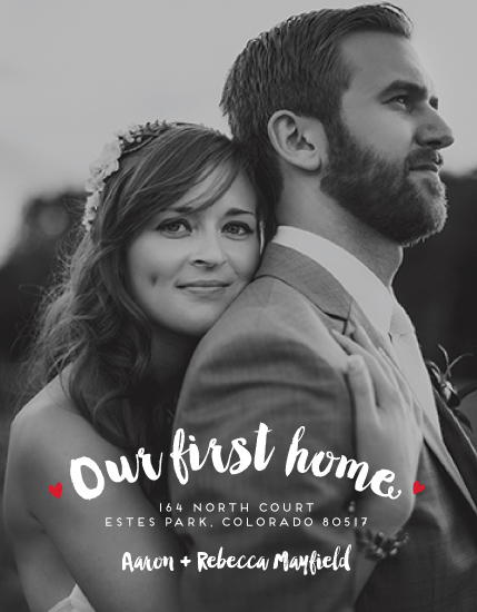 moving announcements - Newlyweds First Home by Sara Showalter