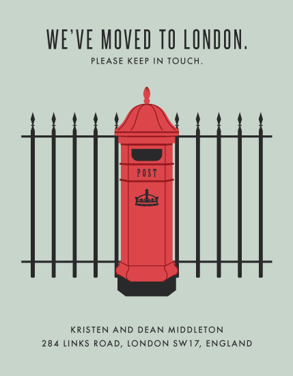 moving announcements - Loving London by Kampai Designs