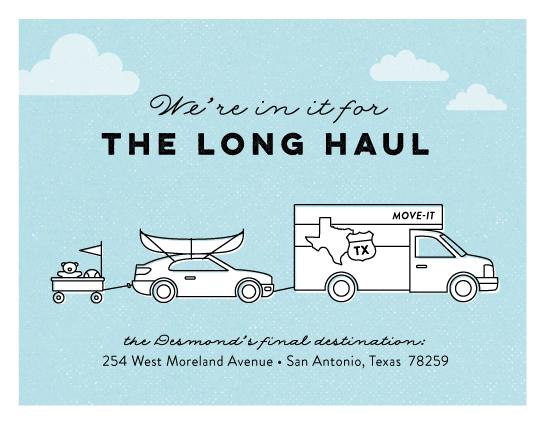moving announcements - Long Haul by Ann Gardner