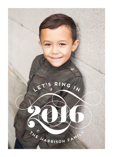 new year's cards - Let's Ring in 2016 by Christina Novak