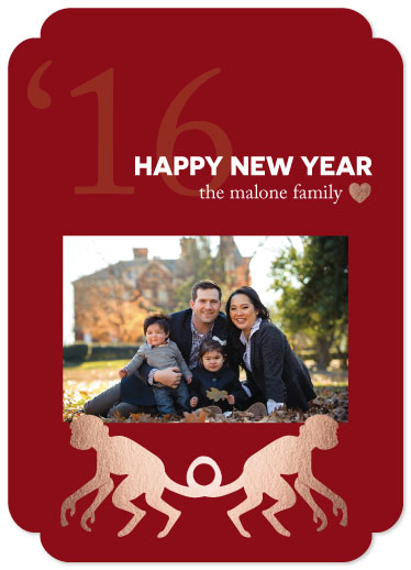 new year's cards - Year of the Monkey - Lunar New Year by Kristen DeAngelis