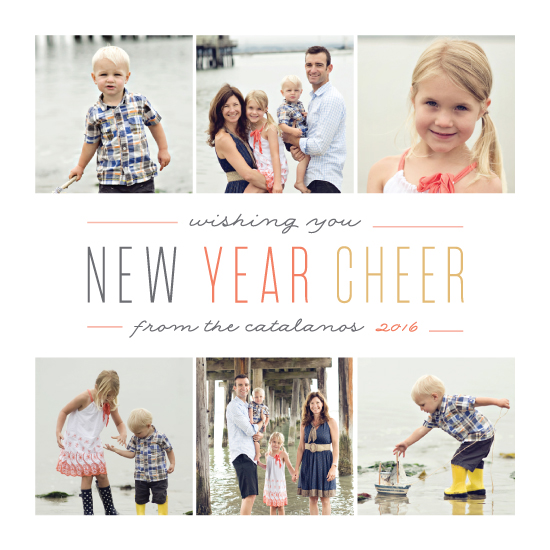 new year's cards - New Year Cheer Multi by Melissa Egan of Pistols