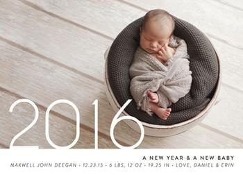a baby new year