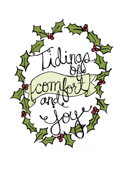 non-photo holiday cards - Comfort & Joy by Mandy Ford
