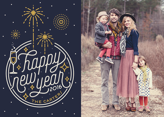 new year's cards - Celebration by GeekInk Design