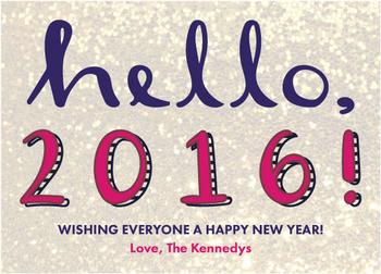 Hello, 2016! Text Only Version