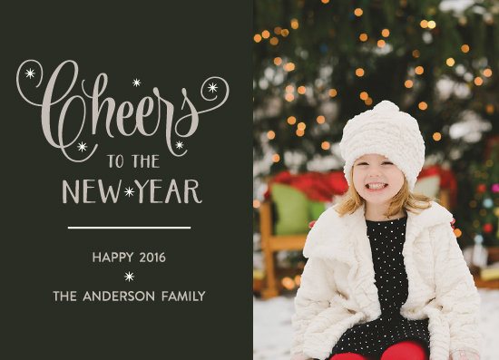 new year's cards - Elegant Cheer by Color And Flair