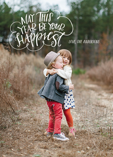 new year's cards - Happiest Wishes by West Sheridan