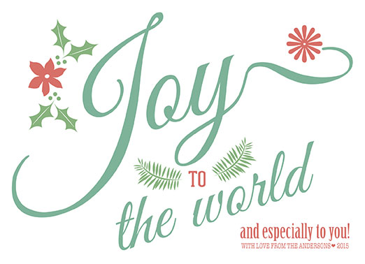 non-photo holiday cards - Joy to YOU! by KAD Designs