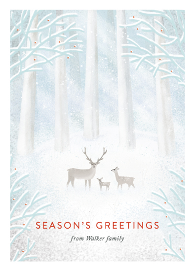 non-photo holiday cards - Winter Trio by Elska Studio