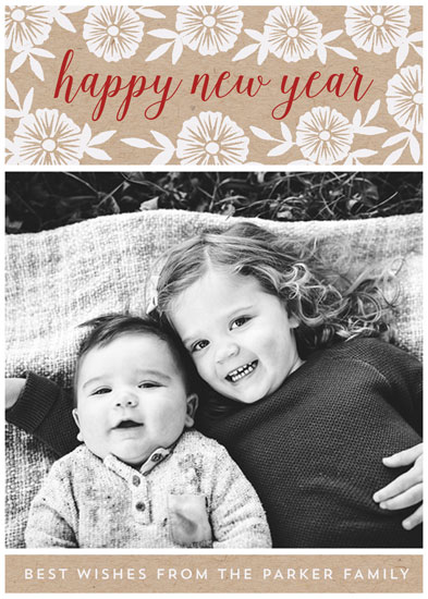 new year's cards - Kraft and Print by Katharine Watson