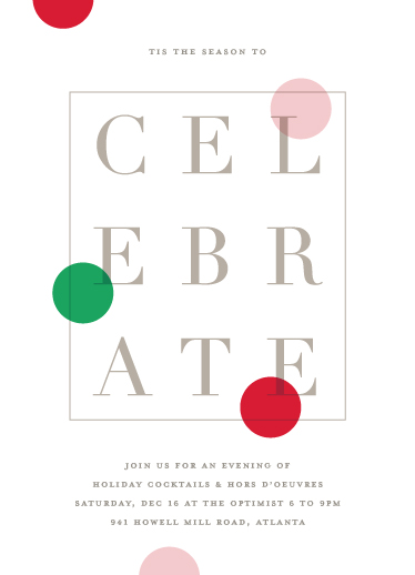 digital invitations - Editorial chic by Stacey Meacham