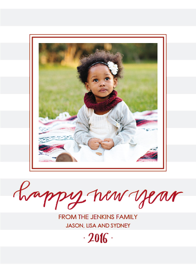 new year's cards - Simple Stripes by West Sheridan