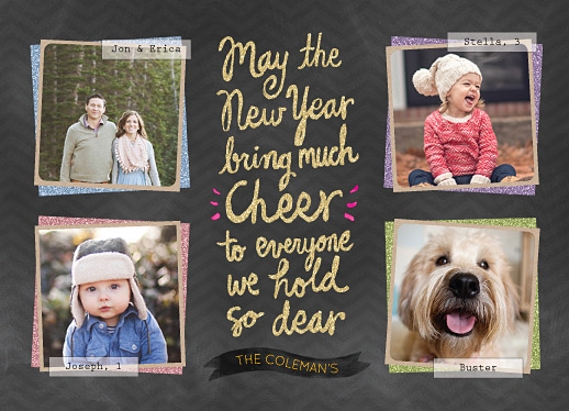 new year's cards - Bring the cheer by Naava Katz