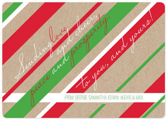 non-photo holiday cards - Sending Love and Cheer by Deanna Wardin