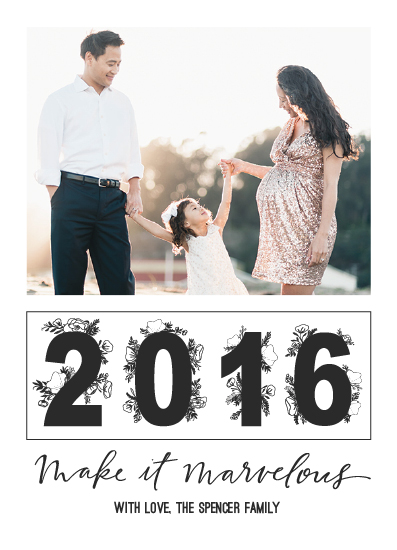 new year's cards - Make It Marvelous by West Sheridan