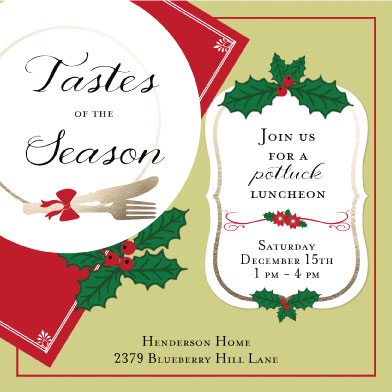 digital invitations - Tastes of the Season by Cindy Jost
