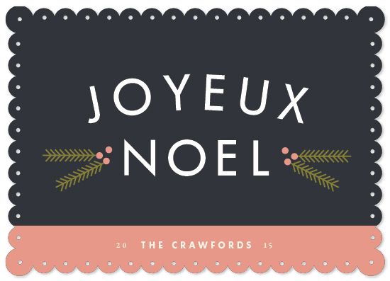 non-photo holiday cards - Simple Noel by Stacey Hill