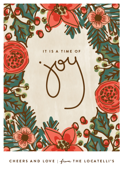 non-photo holiday cards - Joy Cheer and Love by Chris Griffith