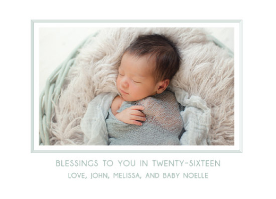 new year's cards - baby's new year by esther designs