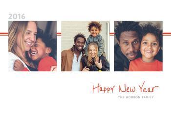 Simple Happy New Year in ORANGE