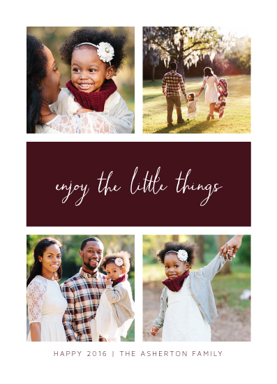 new year's cards - Enjoy the little things by Lea Delaveris